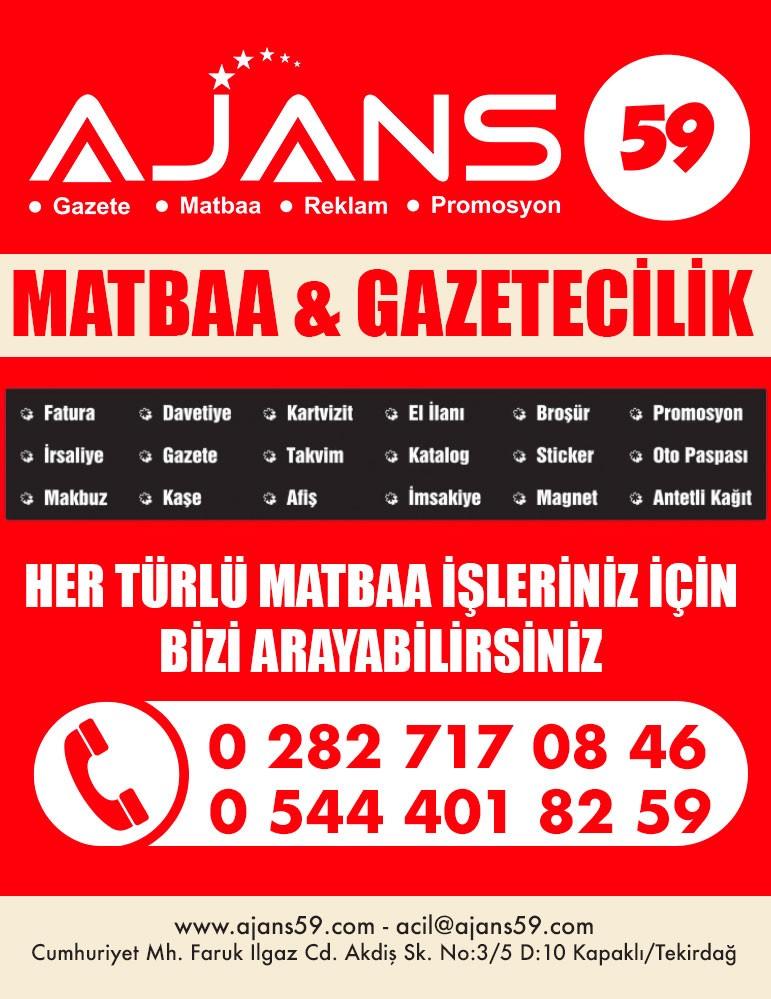 AJANS 59 MATBAA & GAZETECİLİK - KAPAKLI, TEKİRDAĞ
